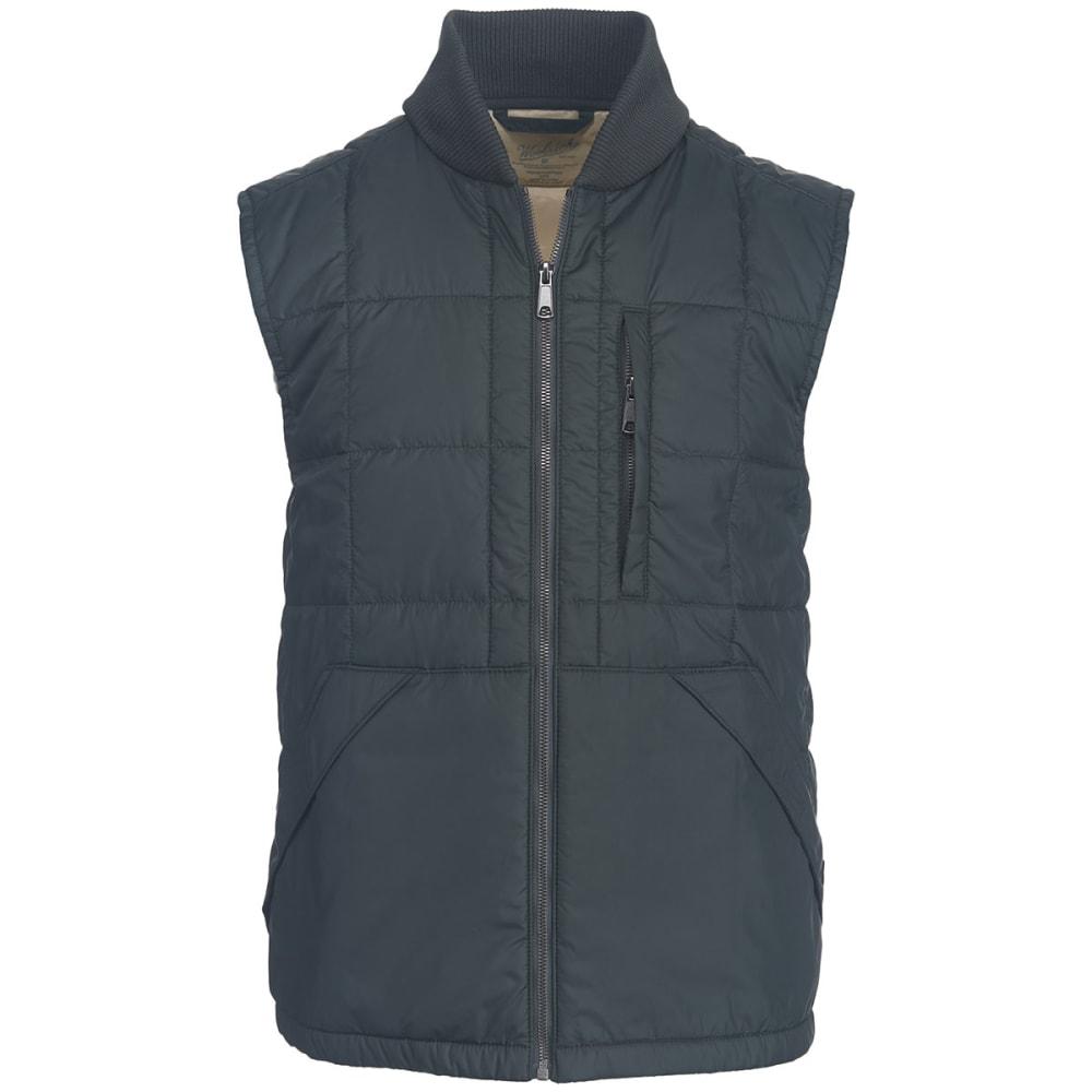 WOOLRICH Men's Exploration Heritage Eco Rich Packable Vest - ASPHALT
