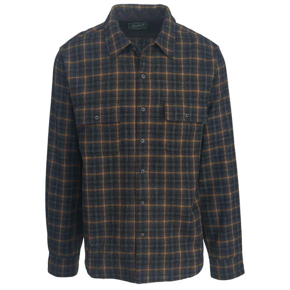 WOOLRICH Men's Bering Wool Shirt - BLACK CHECK