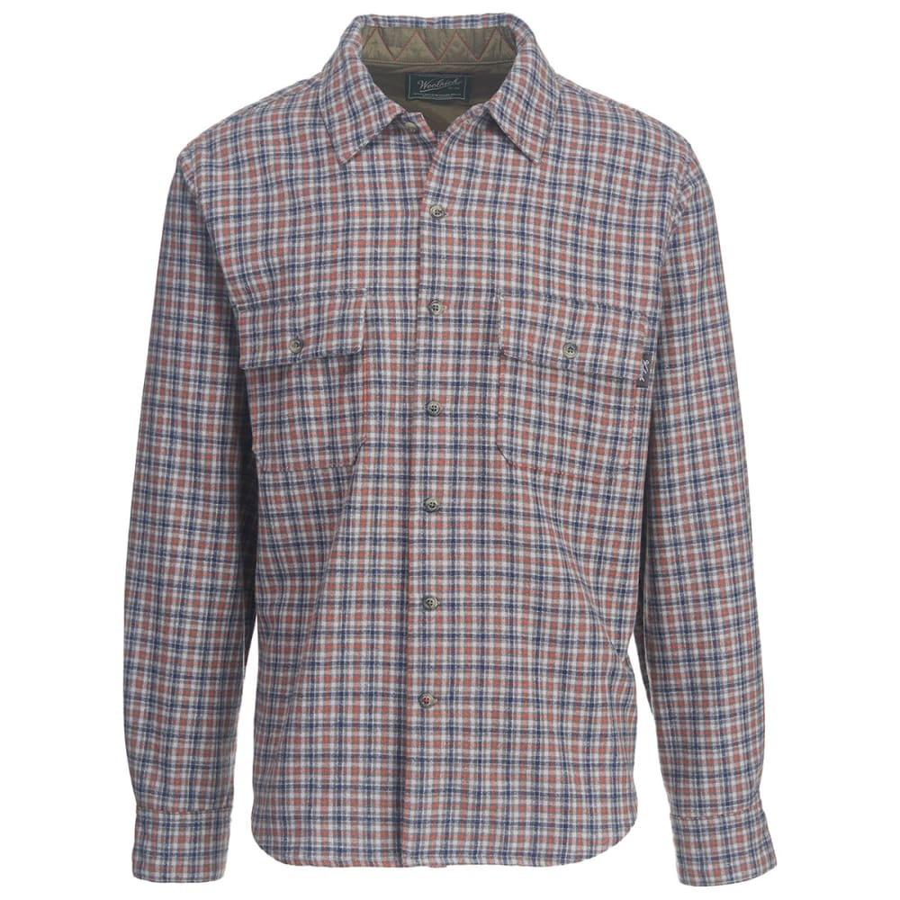 WOOLRICH Men's Bering Wool Shirt - GRAY HEATHER