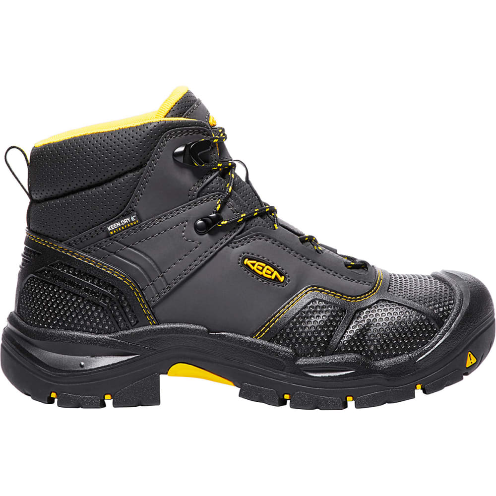 KEEN Men's Logandale Waterproof Steel Toe Boot - RAVEN BLACK