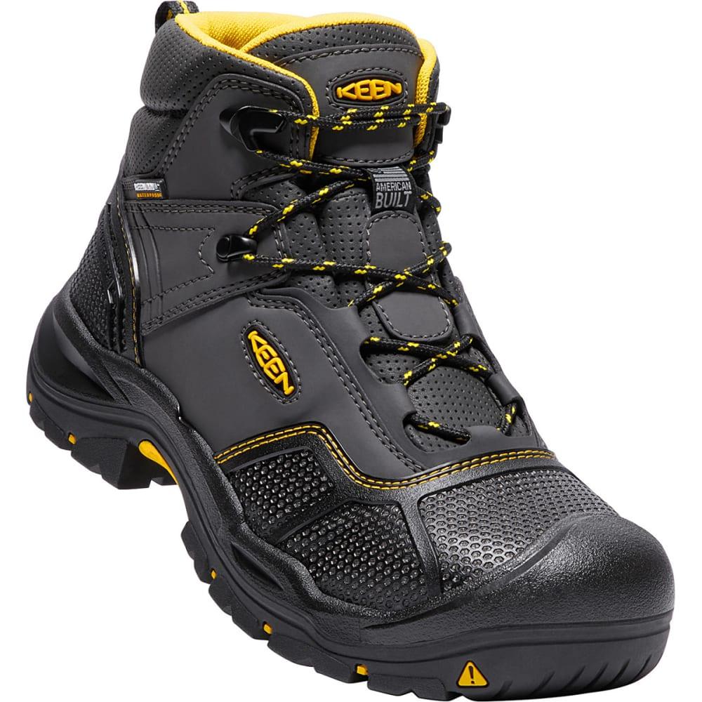 KEEN Men's Logandale Waterproof Steel Toe Boot - RAVEN BLACK