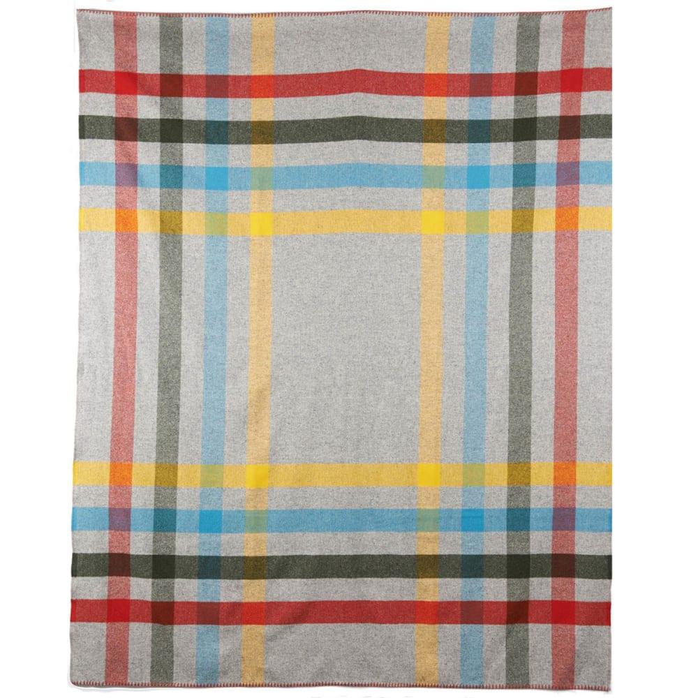 WOOLRICH Seven Springs Wool Blanket - GRAY HEATHER PLAID
