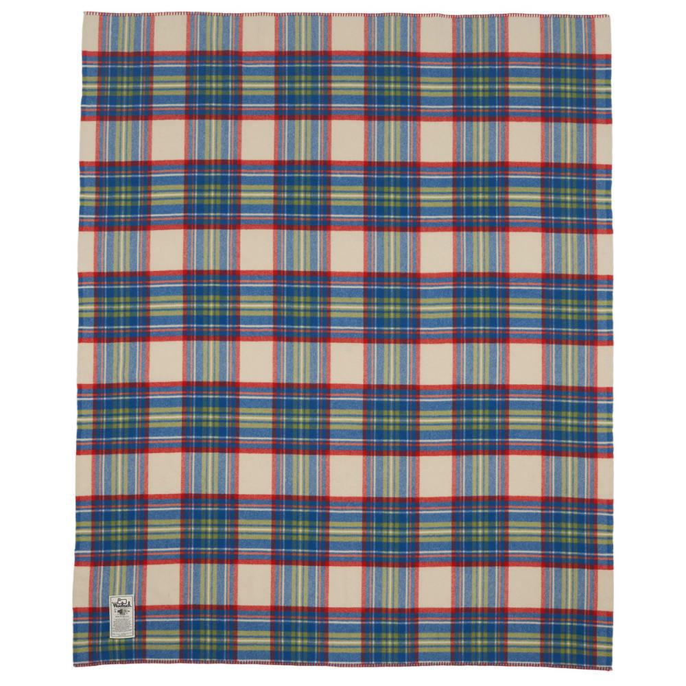 WOOLRICH Seven Springs Wool Blanket - WOOL CREAM MULTI