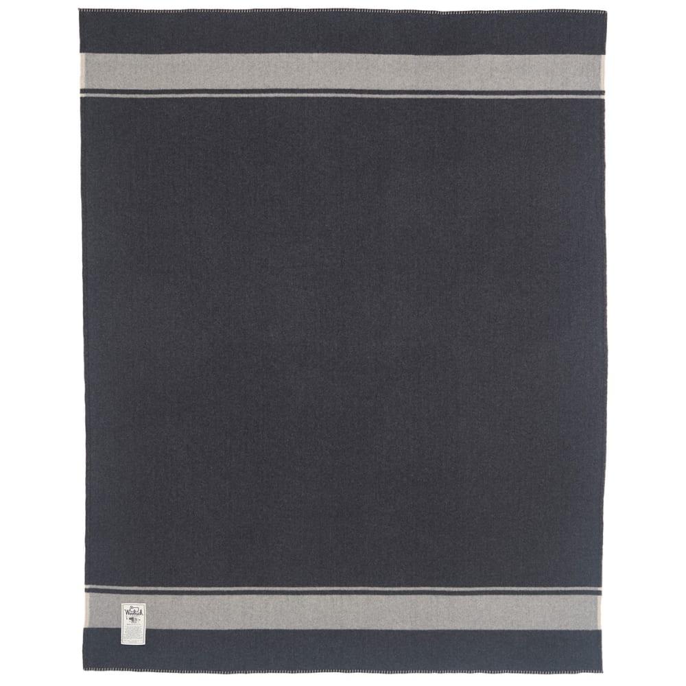 WOOLRICH Walnut Ridge 100% Soft Wool Blanket - DARK GREY