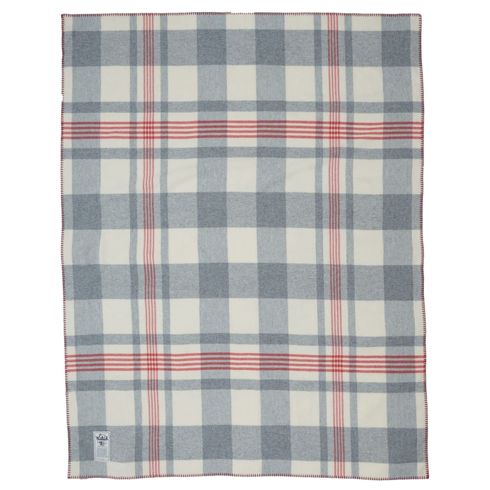 WOOLRICH Soft Wool Plaid Blanket - GRAY