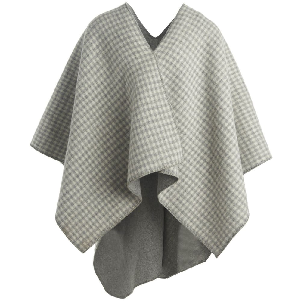 WOOLRICH Double-Face Wool Poncho - GRAY