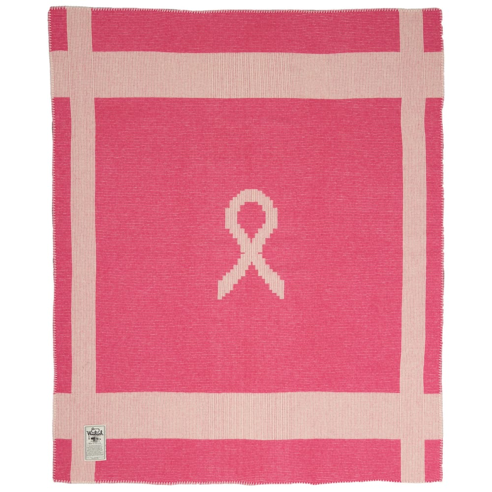 WOOLRICH Breast Cancer Awareness Throw - PINK