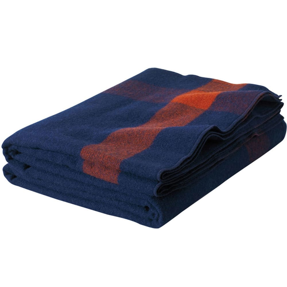 WOOLRICH Civil War Cavalry Wool Blanket - NAVY