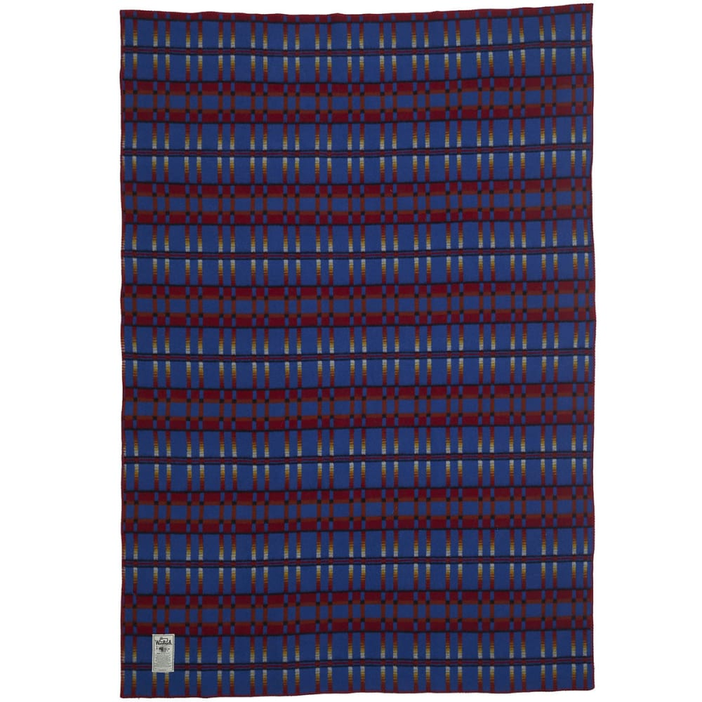 WOOLRICH Pearce Frontier Dobby Wool Blanket - DAKOTA
