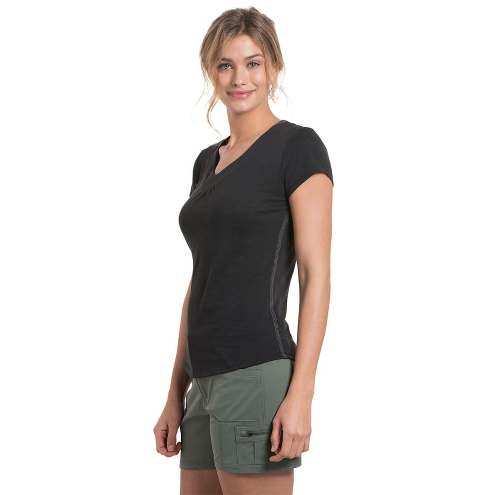 KUHL Women's Sona Short-Sleeve Tee - BLACK