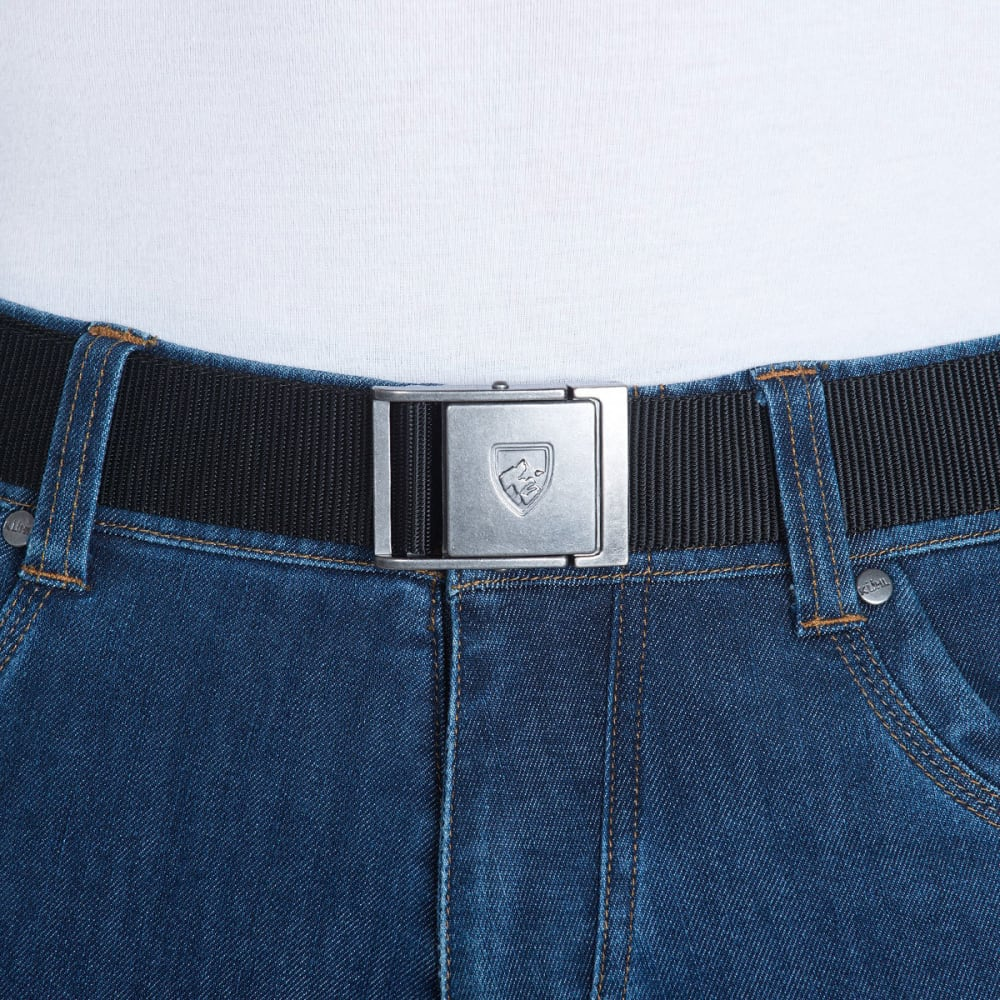 KUHL Men's Aviatr Belt - RAVEN-STEEL BUCKLE