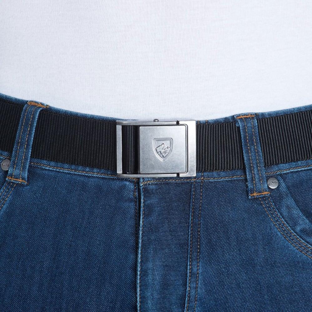 KUHL Men's Aviatr Belt - RAVEN-STEEL BUCKLE