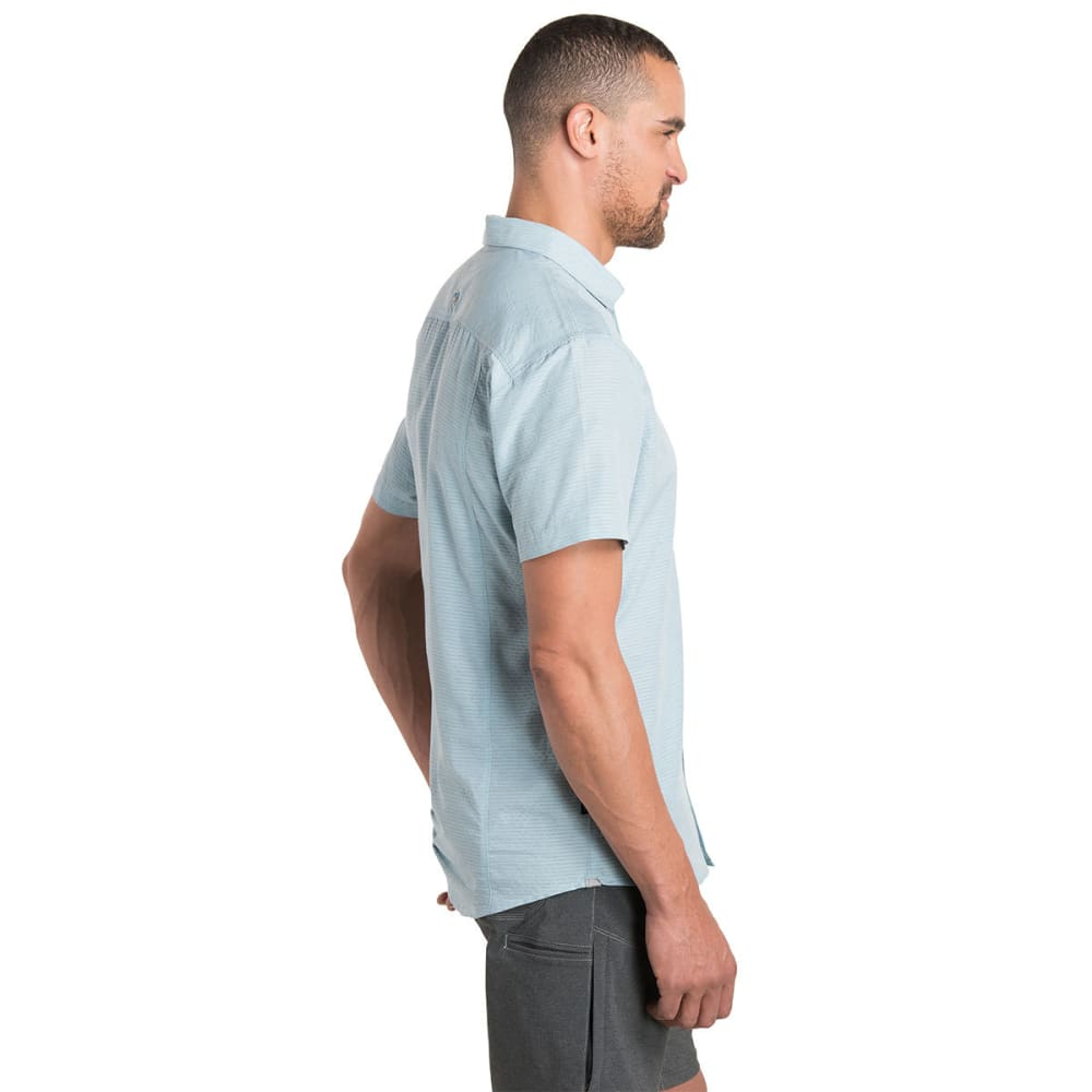 KUHL Men's Riveara Short-Sleeve Woven Shirt - SKY BLUE