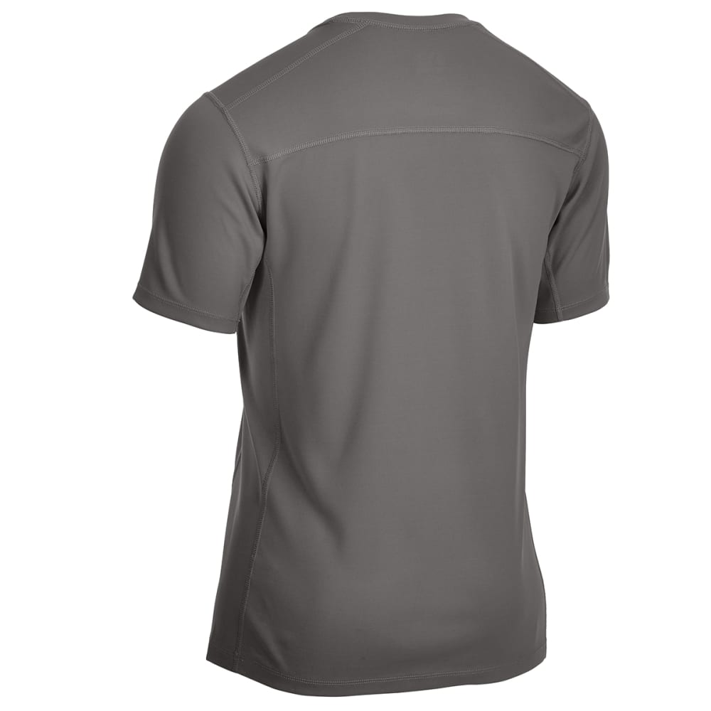 EMS Men's Techwick Epic Active UPF Short-Sleeve Shirt - BRUSHED NICKEL