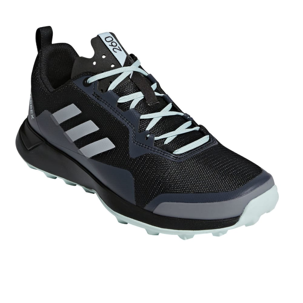 ADIDAS Women's Terrex CMTK W Trail Running Shoes - BLK/WHT/ASH GREEN