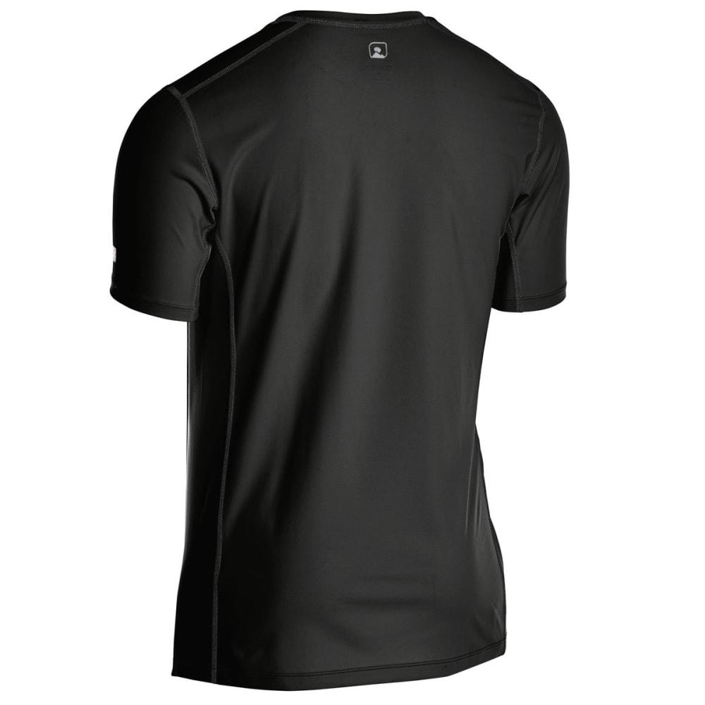 EMS Men's Techwick Trail Run Short-Sleeve Tee - BLACK