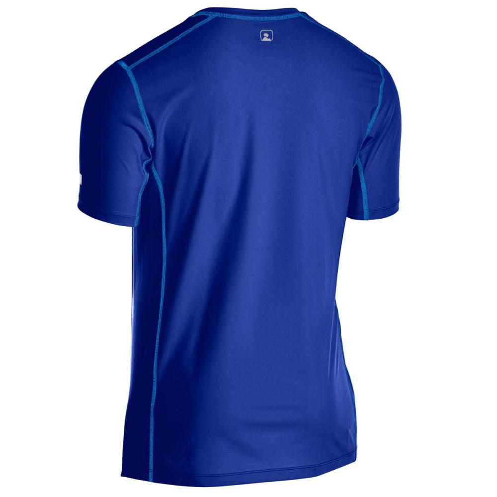 EMS Men's Techwick Trail Run Short-Sleeve Tee - MAZARINE BLUE