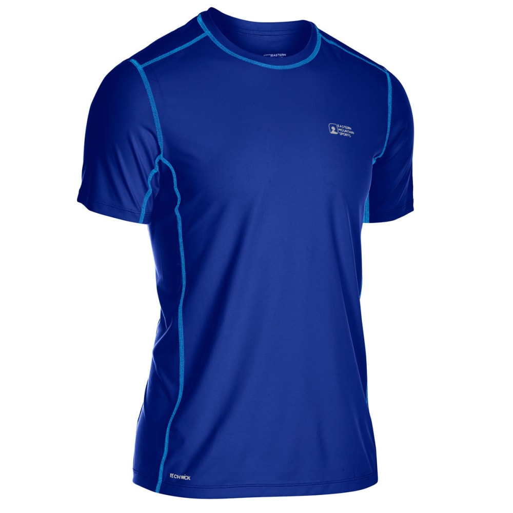 EMS Men's Techwick Trail Run Short-Sleeve Tee - MAZARINE BLUE