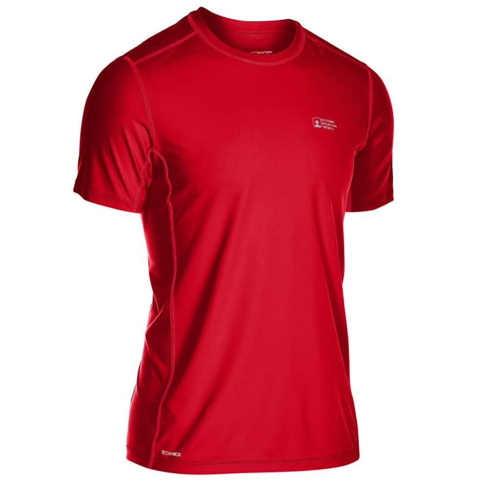 EMS Men's Techwick Trail Run Short-Sleeve Tee S