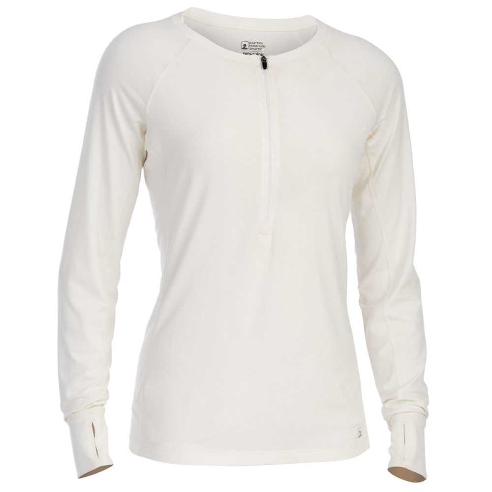 EMS Women's Techwick Hydro UPF Half Zip - SNOW WHITE
