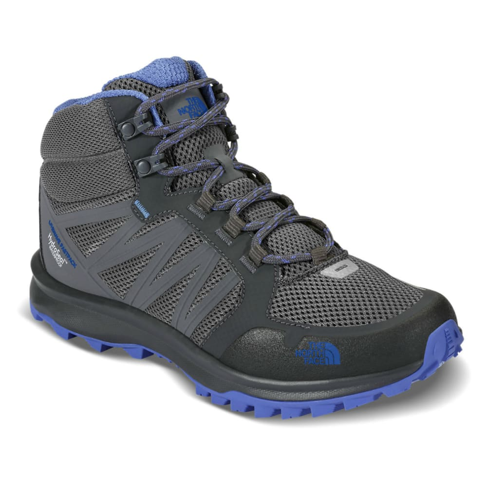 THE NORTH FACE Women's Litewave Fastpack Mid Waterproof Hiking Boots - ZINC GREY
