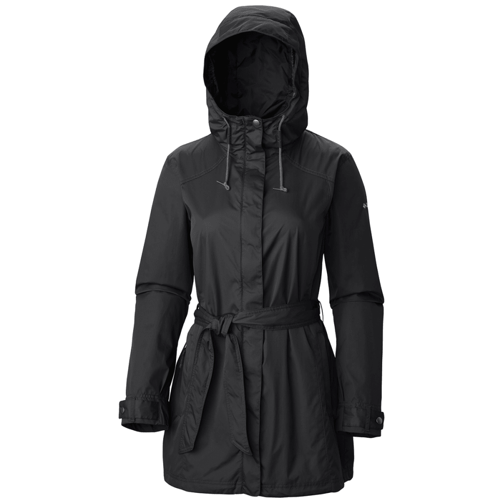 COLUMBIA Women's Pardon My Trench Rain Jacket - 010-BLACK