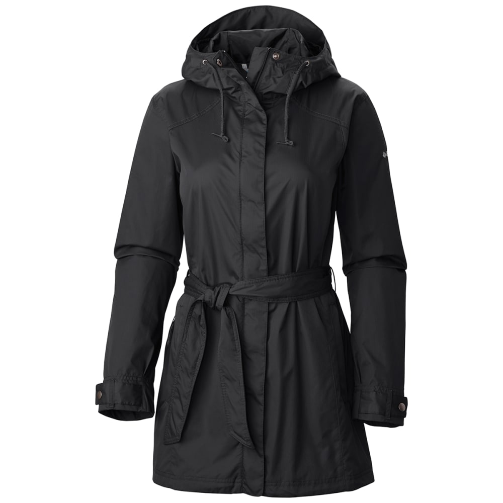COLUMBIA Women's Pardon My Trench Rain Jacket - 010-BLACK