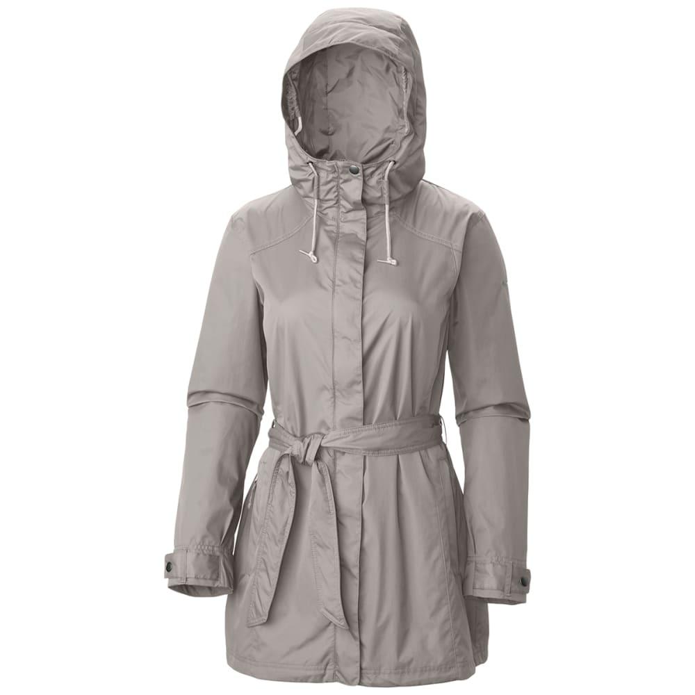 COLUMBIA Women's Pardon My Trench Rain Jacket - 027-FLINT GREY