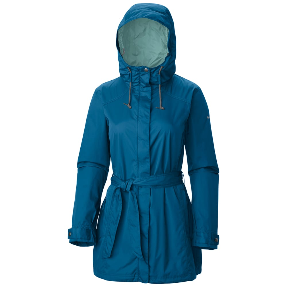 COLUMBIA Women's Pardon My Trench Rain Jacket - 498-JEWEL