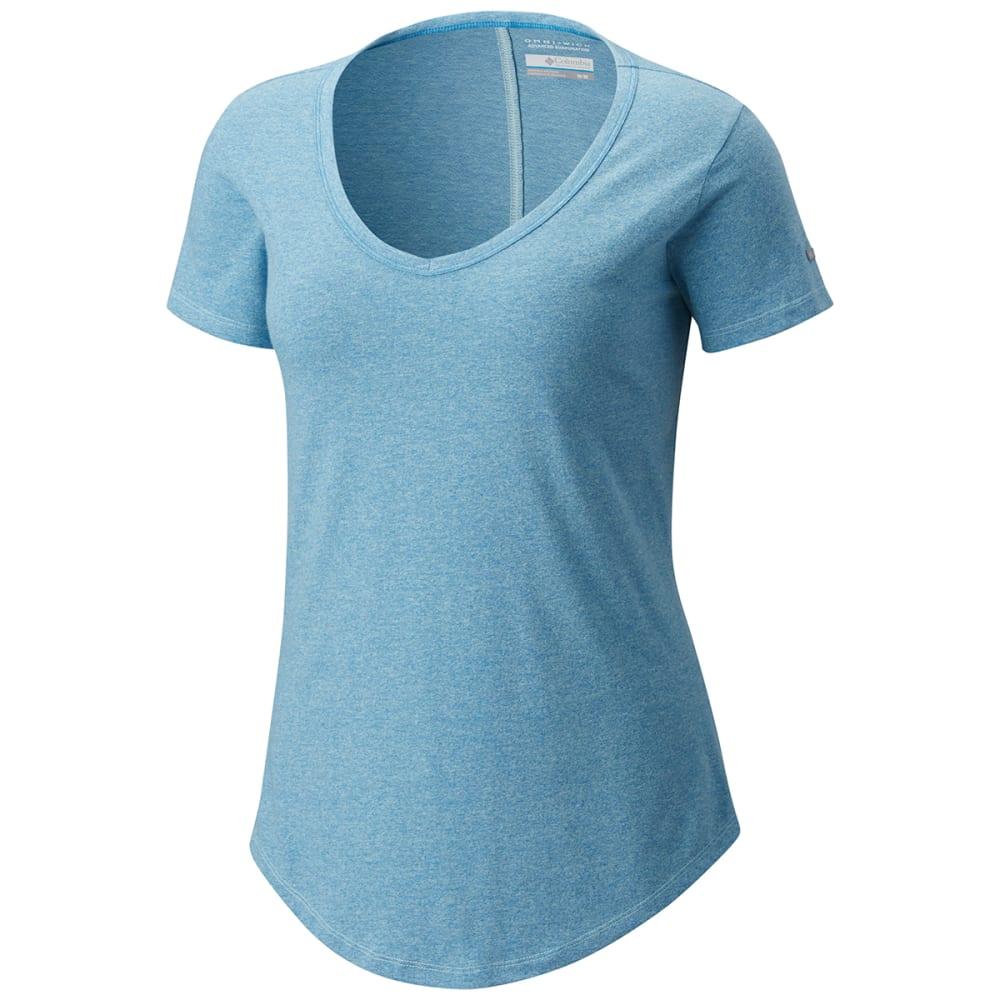 COLUMBIA Women's Willow Beach Short-Sleeve Tee - 749-WIND TWISTED YAR