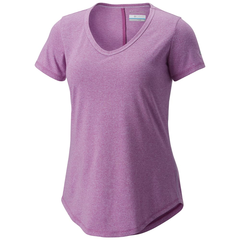 COLUMBIA Women's Willow Beach Short-Sleeve Tee - 519-INTENSE VIOLET H
