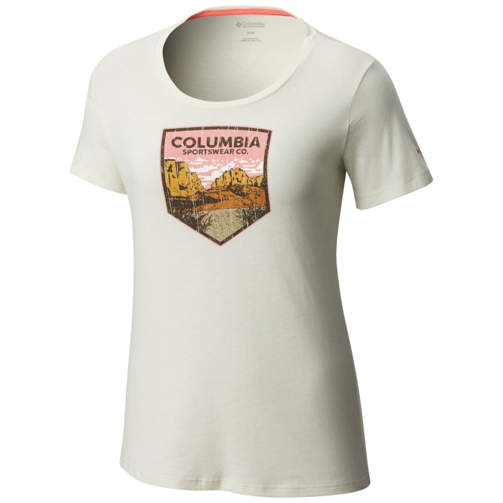 COLUMBIA Women's Columbia Badge Tee - 022-STONE HEATHER