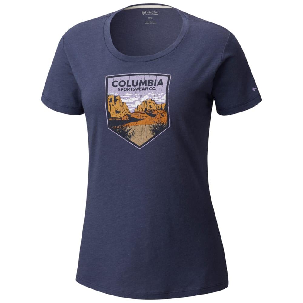 COLUMBIA Women's Columbia Badge Tee - 591-NOCTURNAL HTHR