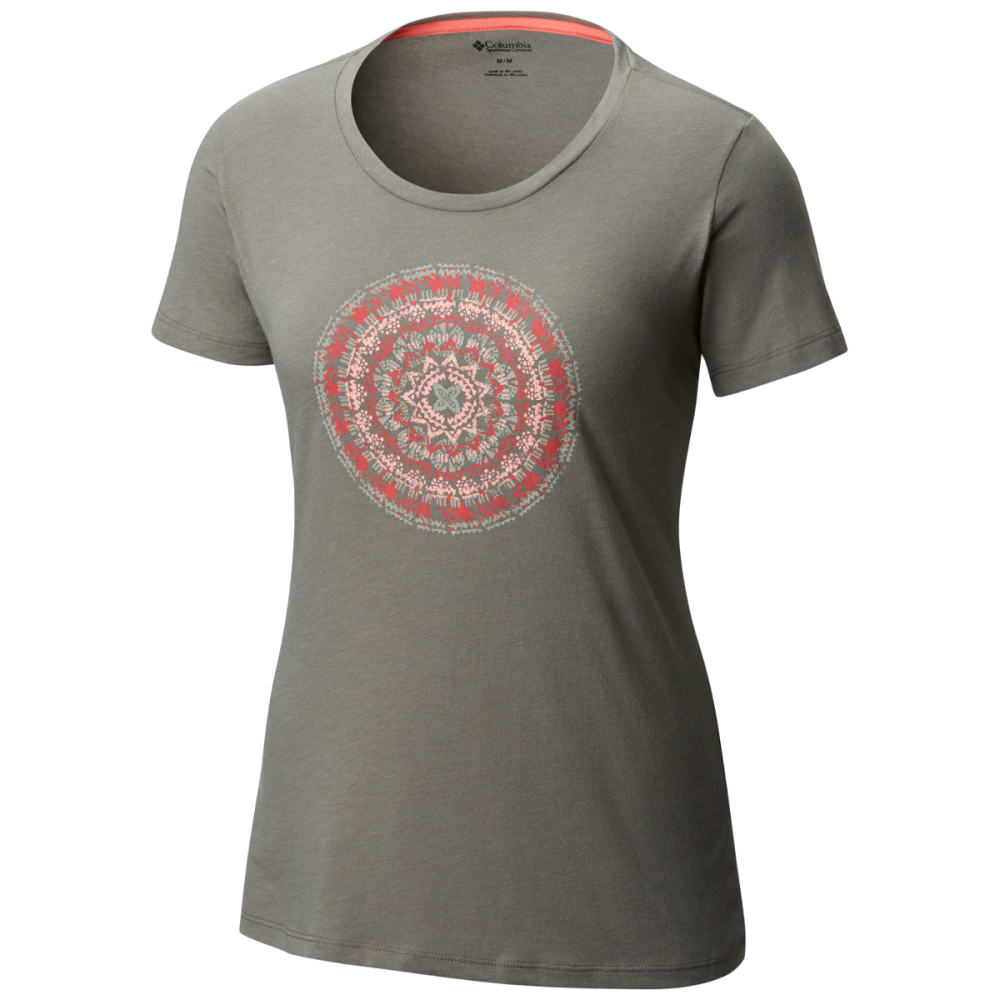 COLUMBIA Women's Sky Tee - 030-CHARCOAL HEATHER