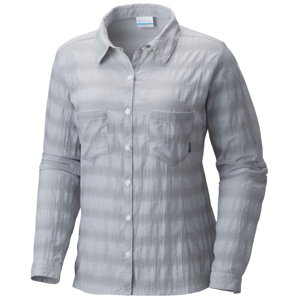 COLUMBIA Women's Summer Trek Long-Sleeve Shirt - 039-COLUMBIA GRY HTH