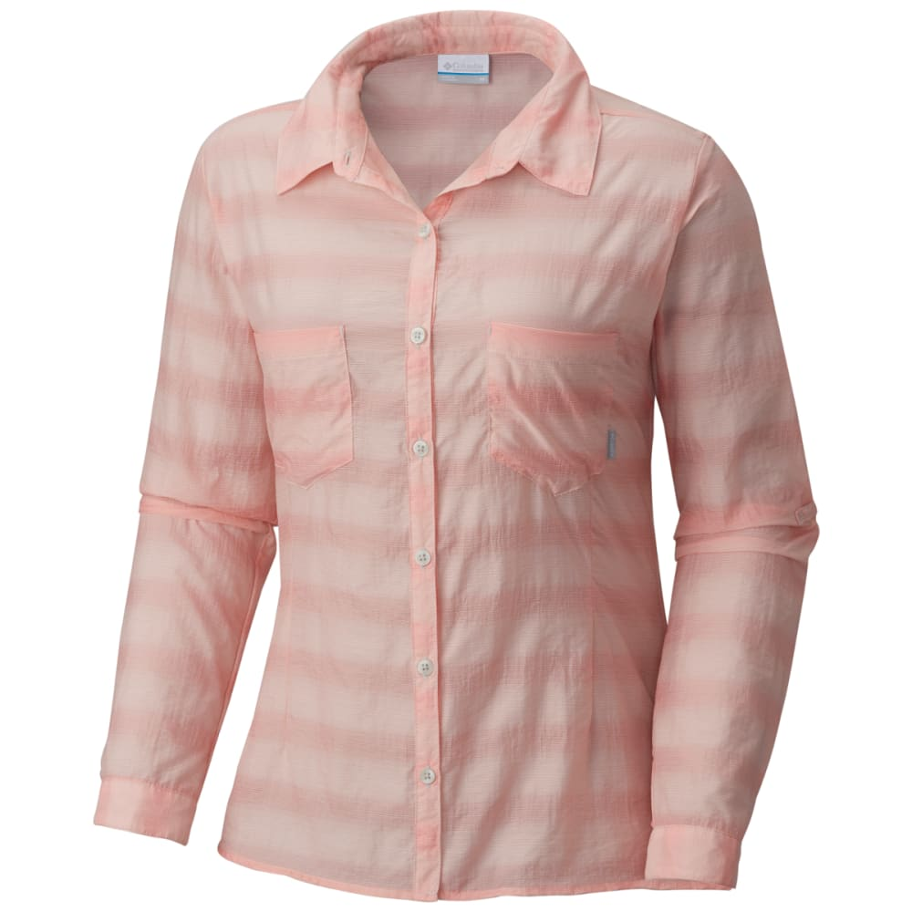 COLUMBIA Women's Summer Trek Long-Sleeve Shirt - 818-SORBET