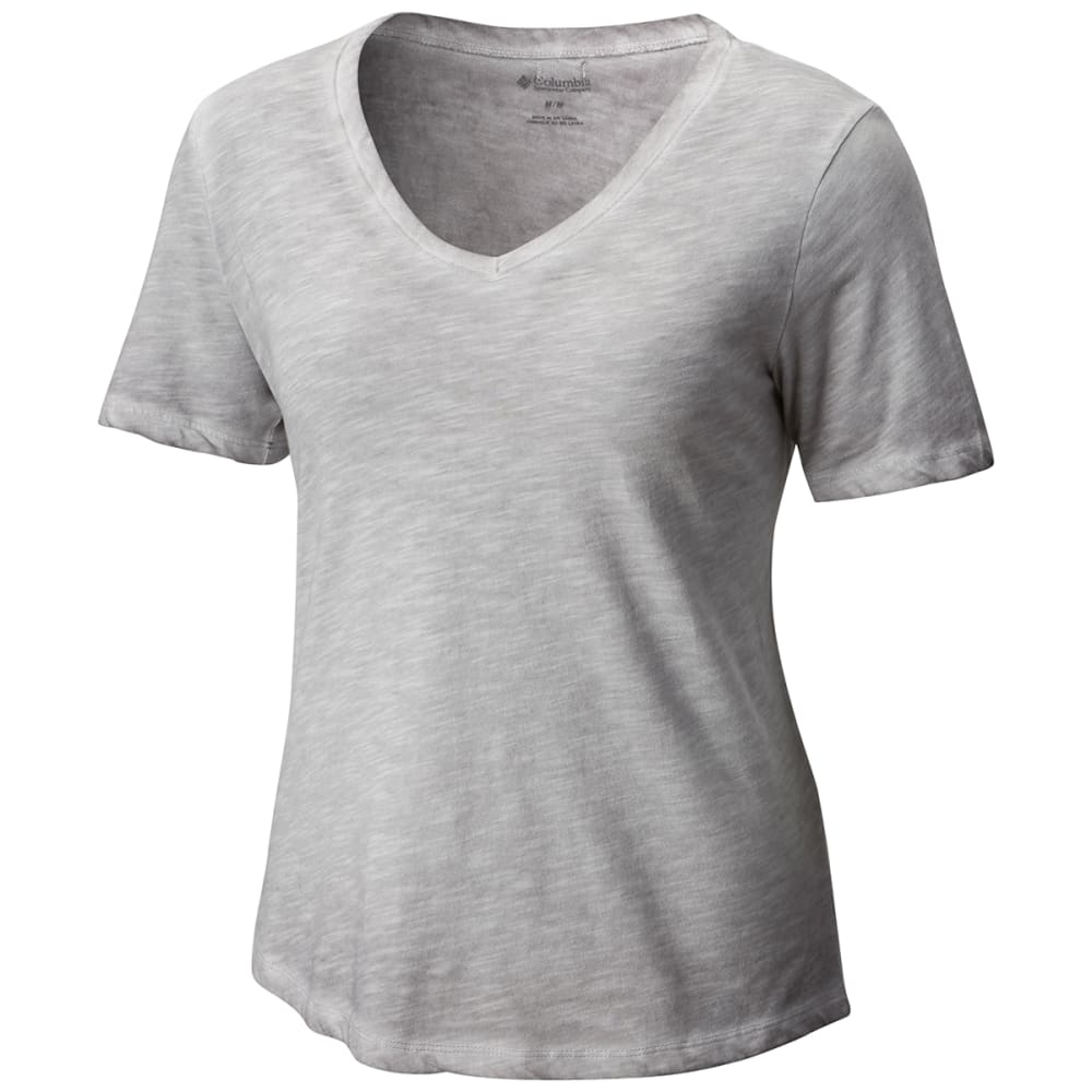 COLUMBIA Women's Sandy River Treatment Short-Sleeve Tee - 039-COLUMBIA GRY