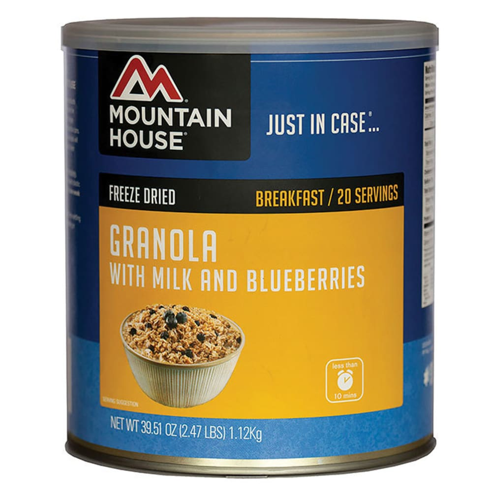 MOUNTAIN HOUSE Granola With Milk and Blueberries, #10 Can - NO COLOR