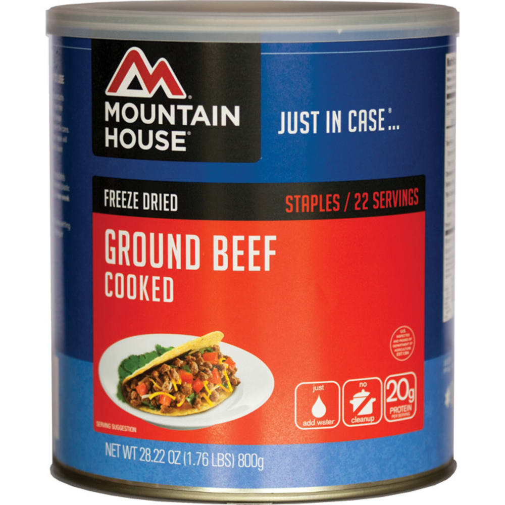 MOUNTAIN HOUSE Ground Beef, #10 Can - NO COLOR