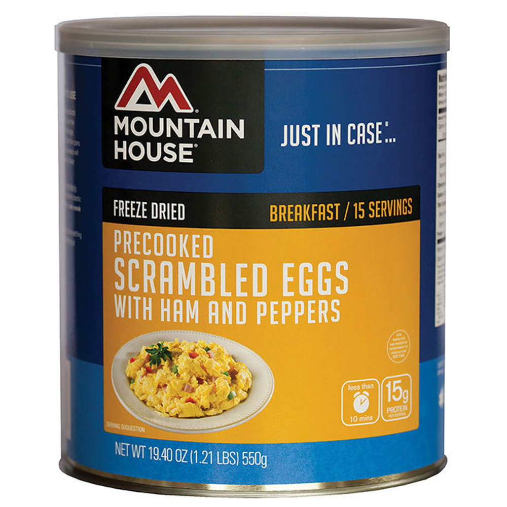 MOUNTAIN HOUSE Scrambled Eggs with Ham and Peppers, #10 Can - NO COLOR