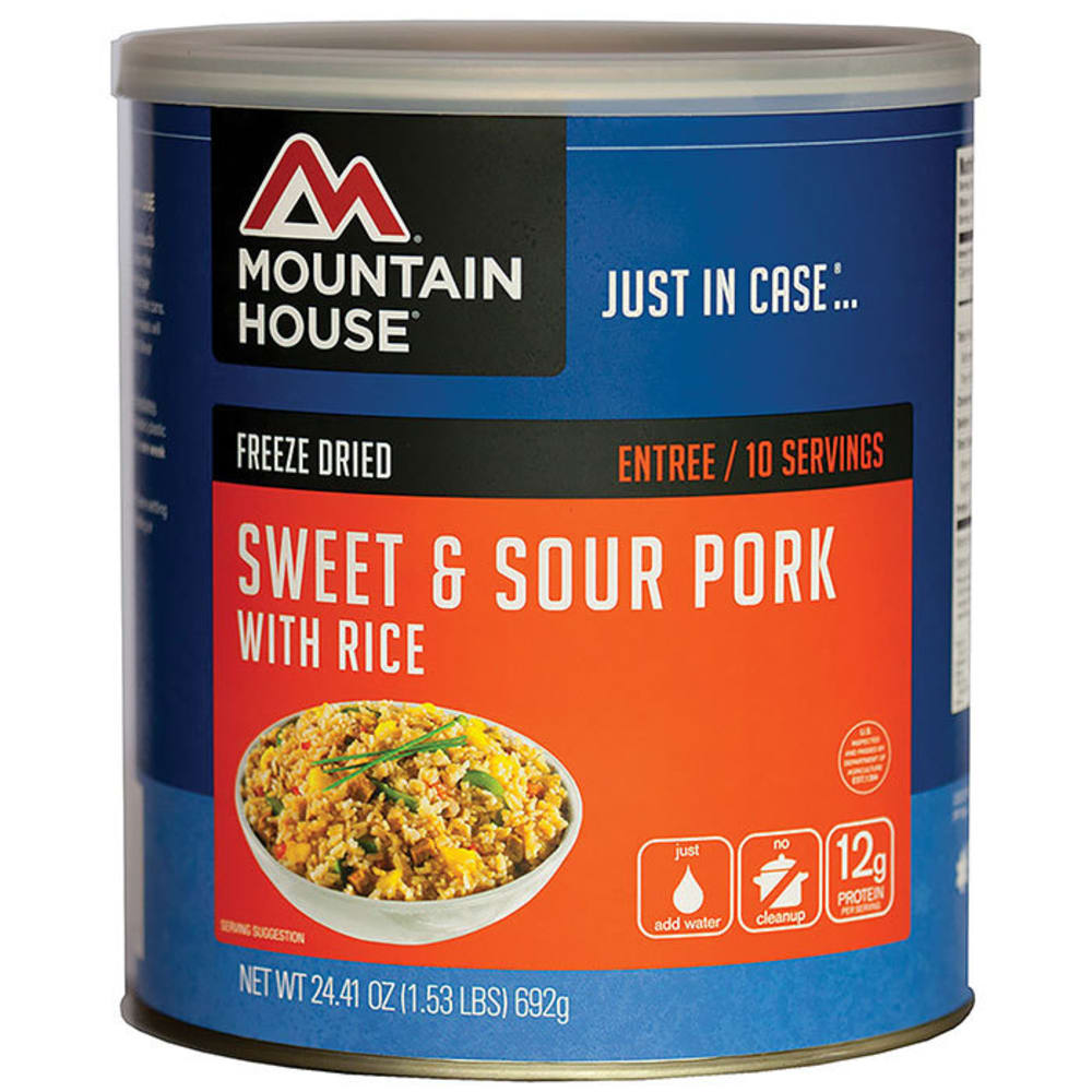 MOUNTAIN HOUSE Sweet and Sour Pork with Rice, #10 Can - NO COLOR