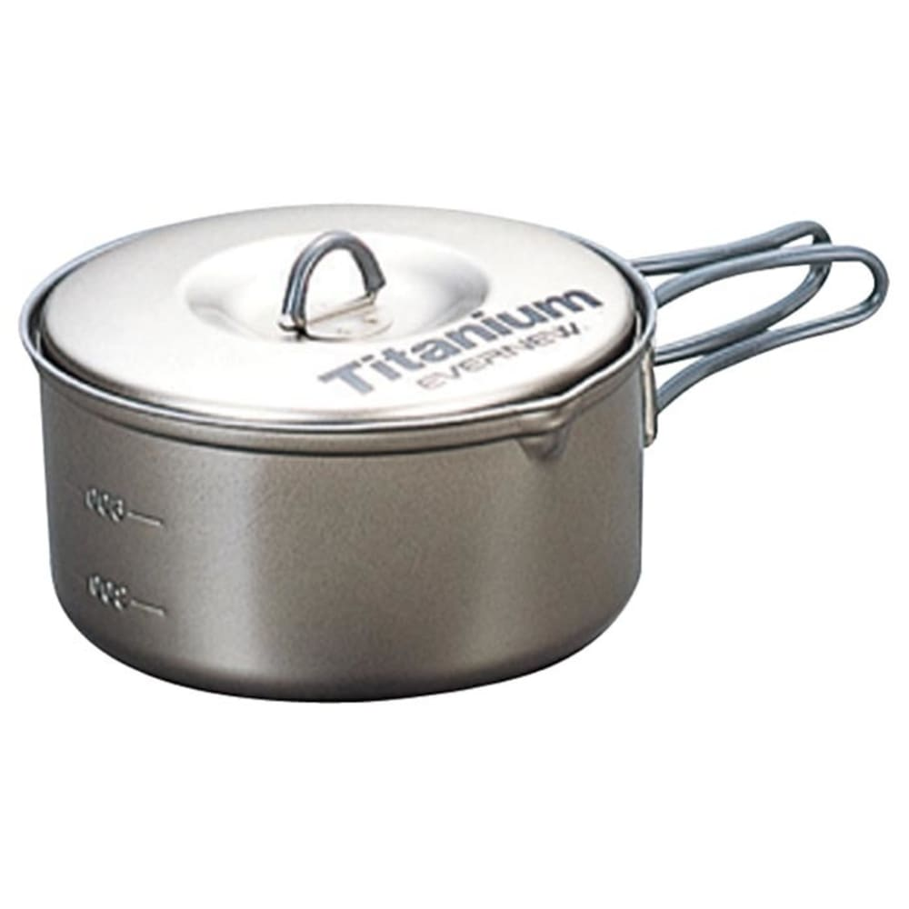 EVERNEW 0.9L Titanium Non-Stick Pot - NO COLOR