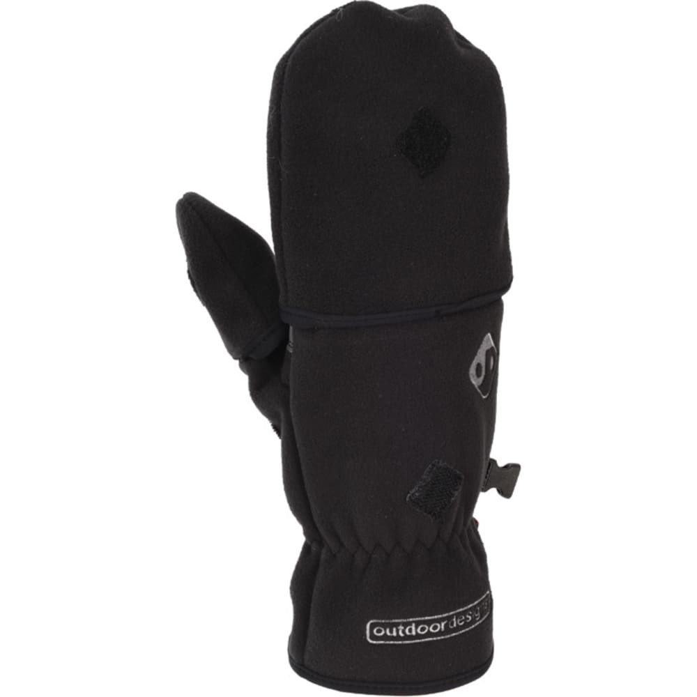 OUTDOOR DESIGNS Konagrip Convertible Gloves - BLACK