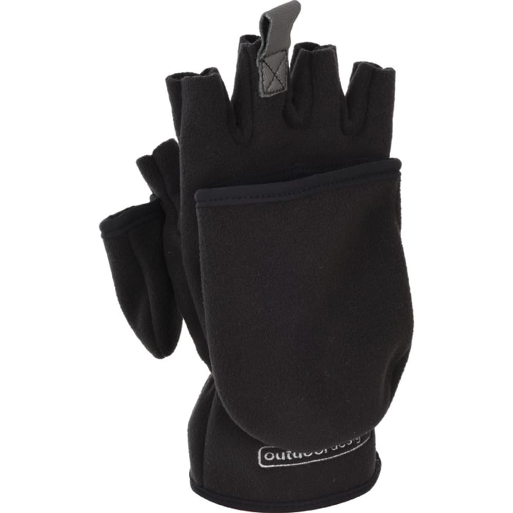 OUTDOOR DESIGNS Konagrip Convertible Gloves?? - BLACK