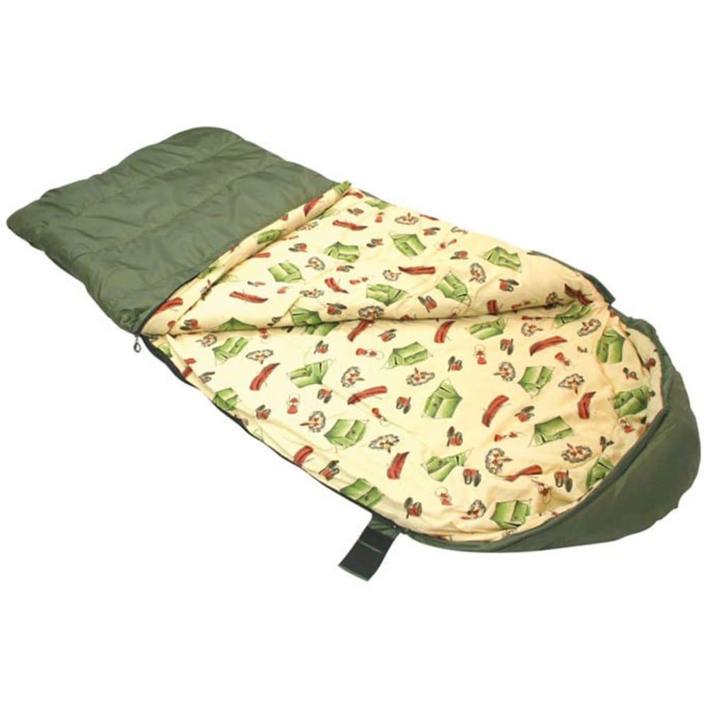 LEDGE Kids' Springz 25 Degree Sleeping Bag - GREEN