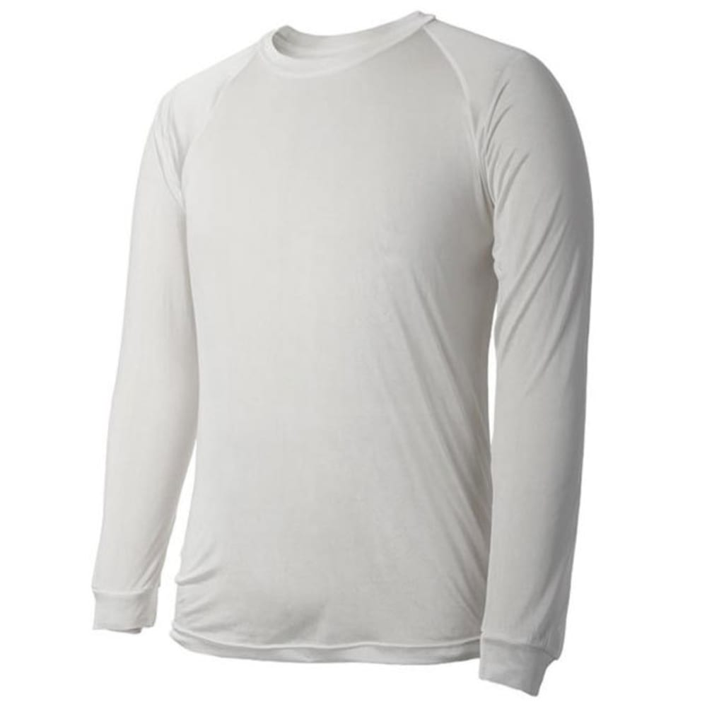 TERRAMAR Men's Thermasilk Crew Long-Sleeve Base Layer Top - NATURAL