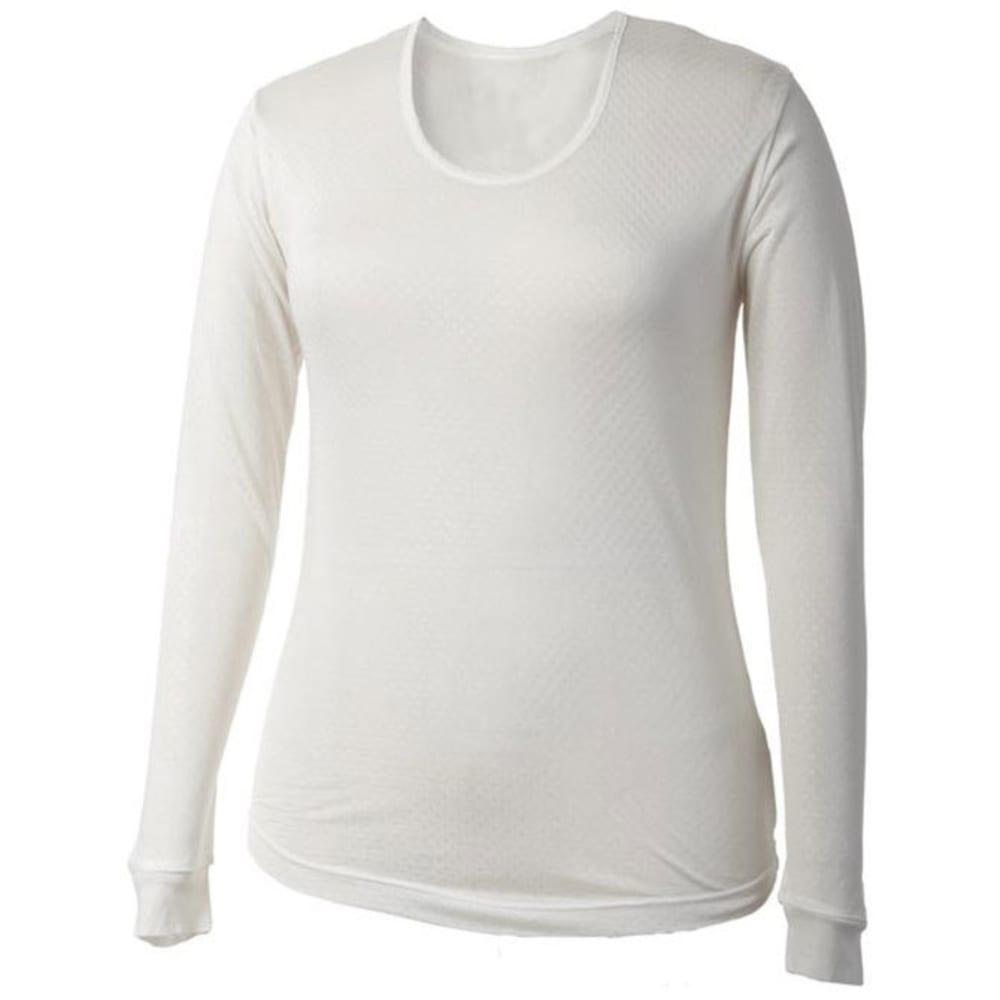 TERRAMAR Women's Thermasilk Scoop-Neck Long-Sleeve Base Layer Top - NATURAL