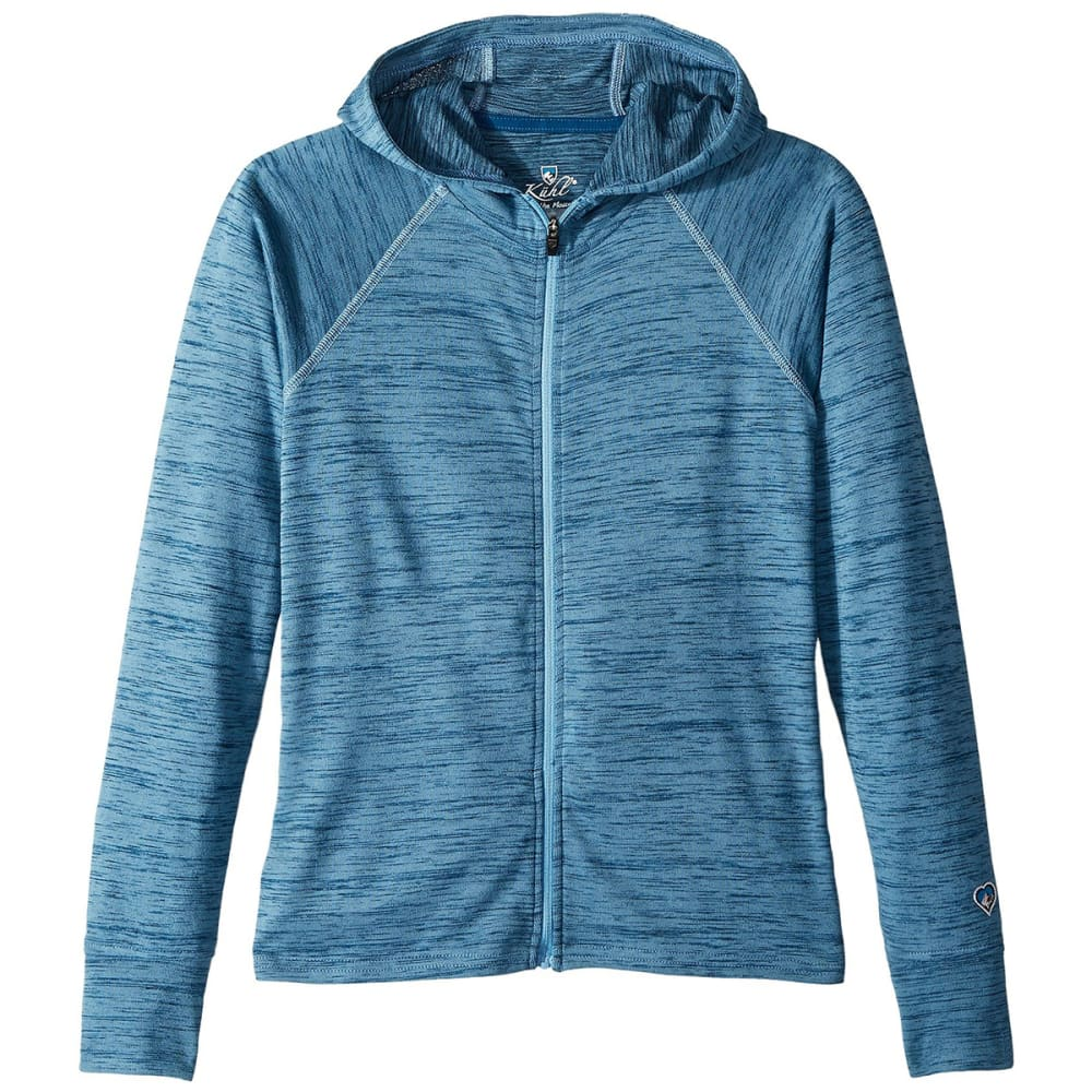 KUHL Big Girls' Vara Full-Zip Hoodie - TIDAL WAVE