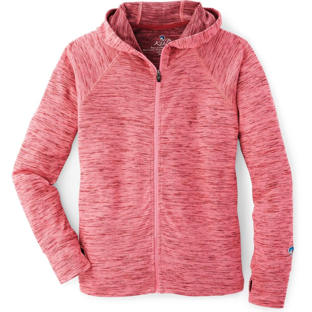 KUHL Big Girls' Vara Full-Zip Hoodie - SLATE ROSE