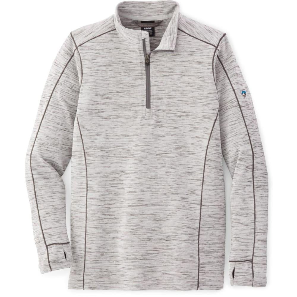 KUHL Big Boys' Alloy Quarter Zip Pullover - ASH